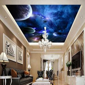 Özelleştirilmiş Dekorasyon Mural Boyama Damla Nakliye Fotoğraf Duvar kağıdı Rüya Yıldız Yıldız Stereo Zenith Tavan Duvar duvar kağıdı Tavan