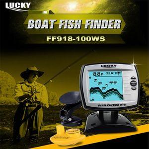 Lucky FF918-100WS Wirable Wireless Agua Profundidad Barco Finder Fishfinder Sensor Sensor Transducer Sonar Fish Finder
