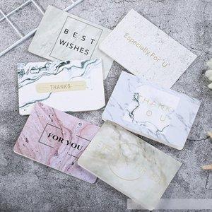 Marbré Carte de voeux spéciale pour vous Thank You bronzante carte de voeux de mariage anniversaire papier Carte Invitation