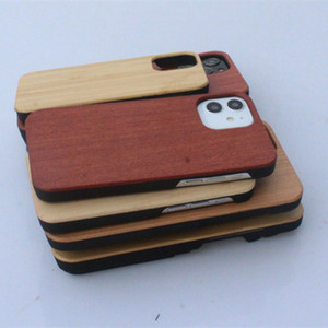 New Arrival High Quality Wooden Case For iPhone 12 Pro Max PC Cell Phone Cover Rosewood Bamboo Phone Cover Could Coustomized Deisgn