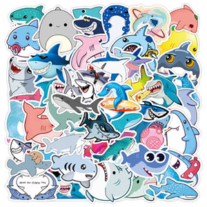 3 Sets=150PCS Cute Shark Children Sticker Stationery Notebook Scooter Refrigerator Water Cup Sticker