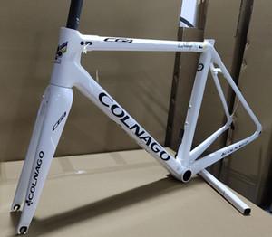 Peinture blanche Colnago C64 Carbon Road Cadres de vélo C64 Cadre de vélo Taille 48/50 / 52/54 / 56cm Livraison gratuite