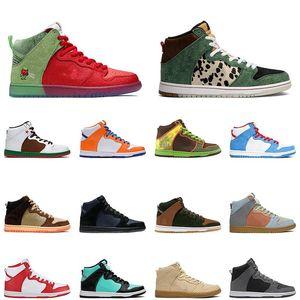 2020 Yüksek Erkek Kadın Koşu Ayakkabıları Yürümek Köpek Çilek Öksürük Erkek Trainer Spor Sneakers