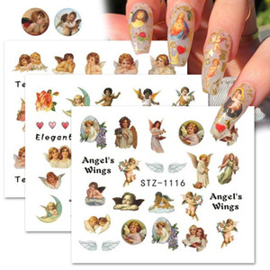 Angel Nail Art Stickers Virgin Mary Cupid Water Transfer Decals Sliders Heaven Design Tattoo Accessories Manicure CHSTZ1114-1121