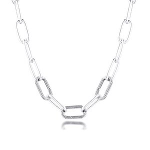 Me Link Necklace S925 Original Sterling Silver Collier Necklaces for Women Fits Me Collection Charms Beads DIY Jewelry Making F1202