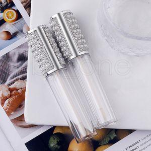 5 ml Elmas Boş Yuvarlak Dudak Parlatıcısı Tüp Yüksek Dereceli Temizle Plastik Dudak Parlatıcısı Konteynerler Dolum Şişe Kozmetik Ambalaj Konteyner RRA3900