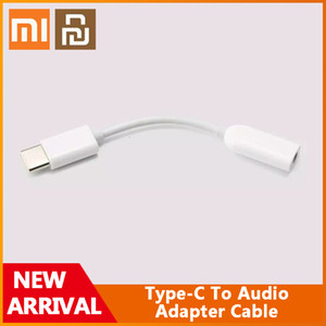 Original Xiaomi Youpin Type-C To AUDIO Male To 3.5mm Female Audio Adapter Cable Type C To 3.5 Headphone Aux Mi6 Mi 6 A2 Note 3 MIX 2S P20