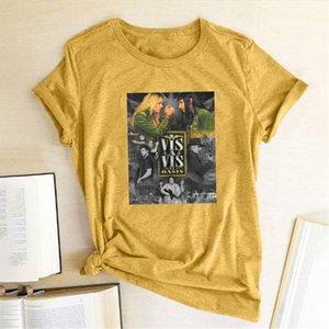 New HOt Spain TV Series Women T shirt Vis A Vis Print T shirt Casual Women Short Sleeve Summer Tee Top Clothes