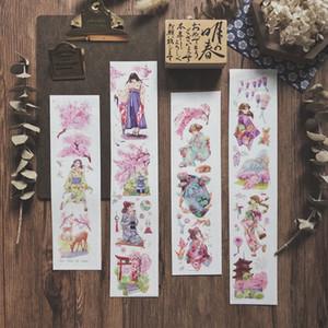 Cherry Flower Girl Washi Backs Bullet Journal Masking Tape Klebeband DIY Scrapbooking Washi Aufkleber Z1210