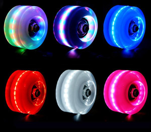 PU 고무 가벼운 플래시 스케이트 바퀴 슬라이딩 스케이트 빛나는 빛을 최대 쿼드 롤러 스케이트 바퀴가 설치된 뱅크 롤 베어링 설치
