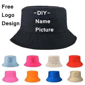 Factory Price! Free Custom LOGO Design Bucket Hat Men Women Outdoor Sunscreen Fishing Cap Men Basin Chapeau Sun Prevent Hats1