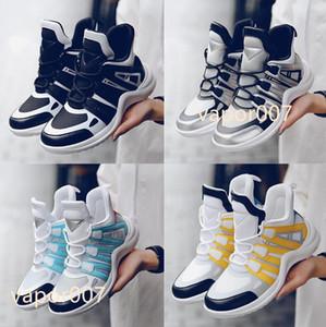 2021 Top Designer Donne Casual Dad Shoes Block Arclight Genuine Pelle Sneakers Mesh Black Traspirante Plate Platform Stylis 35-40