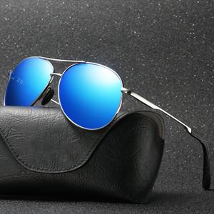 Fondyi al por mayor al por mayor Classic Polarized Aviated Sunglasses que conduce UV400 Piloto Gafas de sol para hombre Gafas de fiesta de viaje con estuche