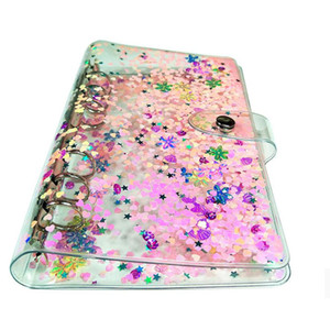 Notebook Cover Transparent Loose-leaf Shell Simple Business Hand Account Book Binder Shell School Office Supplies GWA2587