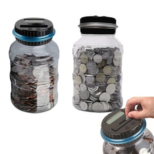 Piggy Bank Counter Coin Electronic Digital LCD Counting Coin box Money Box Jar coin bank Storage Box For USD EURO Money LJ201212