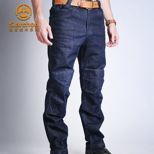 Archon s Instructor City Outdoor Commuting Tactical Jeans Pants Multi Bag Stretch