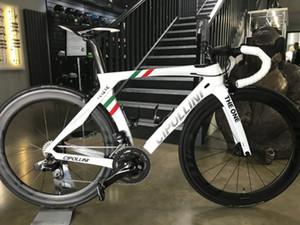 Cipollini RB1K BİR İtalyan Şampiyonu Karbon Yol Bisikleti ile R7000 Ultegra R8000 Groupset Satış 50mm karbon yol tekerlek seti için