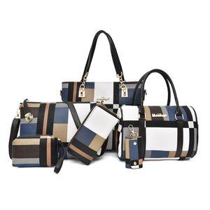 New Style Baby Bag 2020 Versatile Large Capacity Women's Bag 6-Piece Purse Single Shoulder Straddle Portable Simple Woman