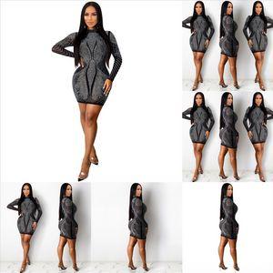 IPS Long Sexy Robe décontractée Femmes Robe Spring Robe Casl Chaude Chaude Plaid A-Line Partie Nouveau Vintage Robes Dames Bouton Dress Robe d'impression MQISQ