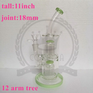 glass bongs colorful heady glass dab rigs showhead perc recycler oil rig high end glass water pipe bubbler