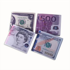 Hot Sale New Men Women Pu Leather Paper Dollar Euro Russian Ruble Wallet Thin Mini Purse 2 Fold Student Cheap Coin Bag