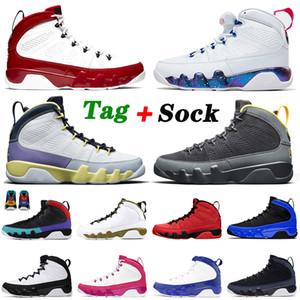 retro 9 9s 2021 Nouvelles Chaussures De Basketball 9 9s Hommes Femmes Gym Rouge Blanc Jumpman Cactus Fleur Université Or Racer Bleu Baskets Sport Baskets 40-47