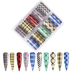 10Roll Set Nails Art Slider Tattoo Line Lattice Designs Foils Nail Transfer Tips Manicure Art DIY Stickers For Nail 3D Decal