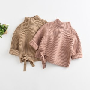 Children Baby Sweaters Solid Color Turtleneck Boys and Girls Sweaters Knit Kids Pullover Casual Baby Girl Clothing 1-5 Y 201124