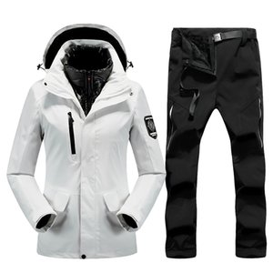 Thick Warm Winter Ski Suit for Women Windproof Waterproof Outdoor Snow Jackets And Pants Female Snowboard Tracksuits women Brand Z1128