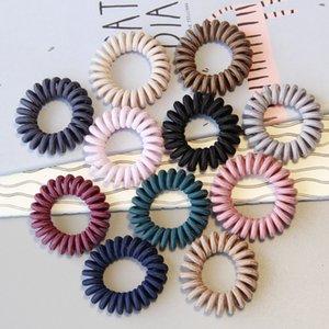 Frauen stricken Telefonlinie Dame Reine Farbe Elastische Basis Haar Ring Mode Zubehör Multicolor Heißer Verkauf 0 6Nr J2