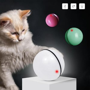 Pet Cat Toy LED Light-Emitting Random Ball USB Charging Smart Toy Automatic Rolling Automatic Pet Ball Exercise for Cat Dogs