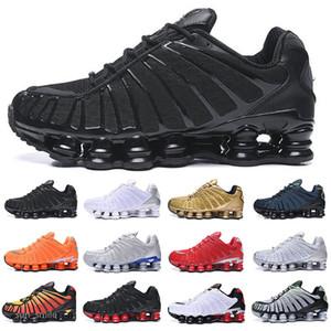 Shox TL En kaliteli tl erkek koşu ayakkabıları kadın nefes Sneakers siyah beyaz Açık yürüyüş spor chaussures r4 eğitmenler boyutu 5.5-11