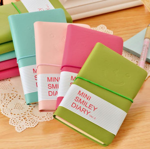 Leather paper Notepad Candy Colors writing Notebook Mini travel journal Diary Students gift Notepads SN