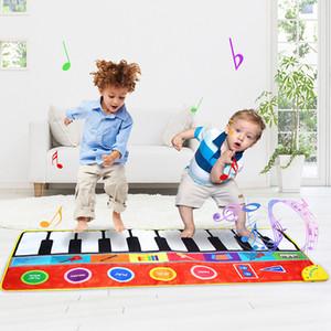 148 * 60cm Büyük Boy Müzik Piyano Halılar Çocuklar C1118 için 8 Aletleri Gitar Akordeon Keman Sesler Müzik Çalma Mat Eğitim Oyuncak