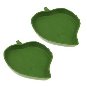 2pc Amphibiani Amphibiani Reptile Feeder Feeder Hood Plast Plasto Plate Water Bowl per Tortoise Spider Gecko Licards
