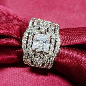 Factory3ft6Engets Anillo conjuntos de anillos para mujeres de moda de novia Fiesta de novia Moonso Jewelry R4882 5Exl #