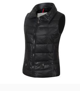 Sonbahar Kış Yelekleri Açık Kadın Aşağı Yelek Standı Yaka Kolsuz Aşağı Ceket Kalın Sıcak Aşağı Jackeuterweat Coats