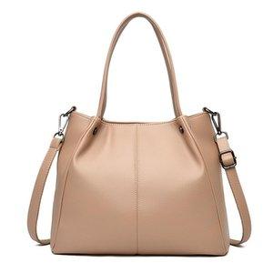 Simple and large-capacity ladies bag, new fashion net red tote bag, elegant texture, women's handbag, shoulder diagonal bag