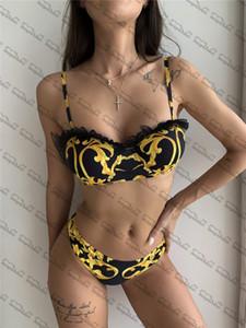 Lace Side Bikinis Designer Padded Women's Swimsuits Outdoor Beach Tourism Vacation Sexy Bandage Push Up Swimwear