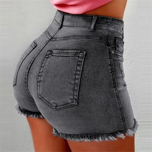 Fashion-High Waist Hip Lift Jeans Shorts Washing Frilled Skinny Shorts Pants Sexy Summer Denim Shorts Women Clothes Drop Ship 220223
