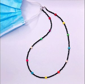 New Quality Retro-Vintage Colorful Crystal glass Bead Mask Face Chain Anti-Slip Handmade String 50-52cm with lobster clasp