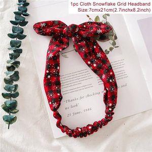 Christmas Gifts Snowflake Grid Headband Merry Christmas Decor For Home Christmas 2020 Ornaments Xmas Noel Happy New Year 2021 bbyYAZ