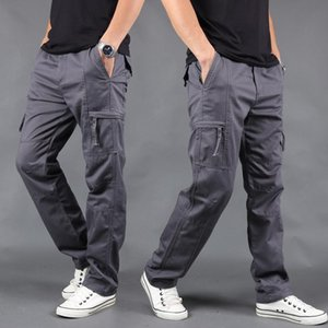 Men Cargo pants New winter mens Loose army tactical pants Multi-pocket trousers homme Plus Size 4XL Male Overalls