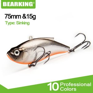 BEARKING 7.5cm 15g Lure Wobblers Crankbaits Hard Lure Pike Artificial Bait Fishing Tackle Bass Trout Fishing Lures