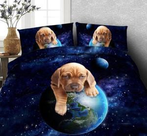 3D Dog Bedding Comforter Set Set Duble Cover Letto in una borsa fogli Quilt Doona Bedset Cal California King Queen Size Doppio Twin 5 PZ1