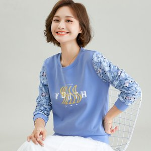 Sweatshirt Girl Tops Fashion Thin Wool Cotton Sweatshirt 2021 Spring Autumn Round Collar Pullover Women's Clothes Long Sleeve Lace T-shirt