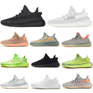 Yeezy 350 V2 Running shoes Static Refective Kanye west cher Belgua 2.0 Semi Frozen Chaussures Hommes Femmes Entraîneur Sneakers Eur 36-47