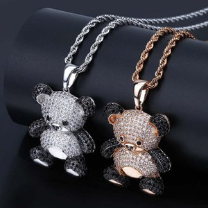 Cartoon Panda Pendant Necklace For Mens Womens New Fashion Hip Hop Necklace Jewelry Iced Out Pendant Necklace