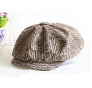 Wholesale Men Women Retro Baker Boy Hat Newsboy Gatesby Tweed Country Golf Sun Flat Beret Cap Free Shipping