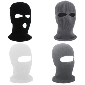 Full Face Mouth Mask Cold Proof Winter Headgear Keep Warm Men Solid Color Knitting Unisex Hat High Quality 6 5yb M2